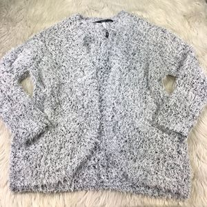 Kensie Eyelash Open Front Cardigan Sweater
